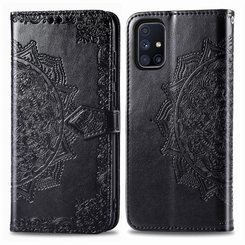 sunsky-online.com - 15% OFF by SUNSKY COUPON CODE: SYA001287002 for For Galaxy M51 Mandala Flower Embossed Horizontal Flip Leather Case with Bracket / Card Slot / Wallet / Lanyard(Black)