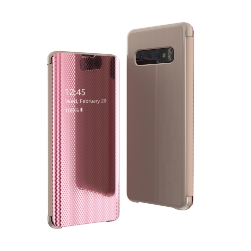 Mirror Plated Ultra-Thin Mobile Phone Smart Protective Case For Samsung S10 Flip-Free Smart Answering Phone(Pink) фото