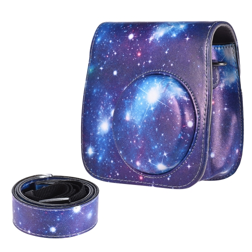 Universe Pattern Full Body Camera PU Leather Case Bag with Strap for FUJIFILM instax mini 9 / mini 8+ / mini 8