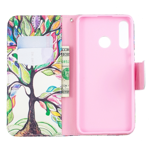Colored Drawing Pattern Horizontal Flip Leather Case for Huawei P30 Lite,with Holder & Card Slots & Wallet(Tree of Life)