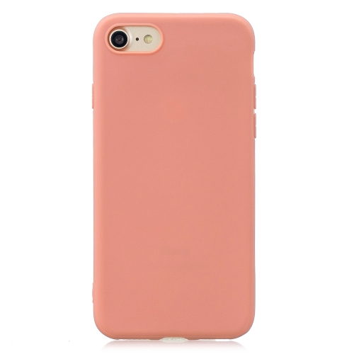 Frosted Solid Color TPU Protective Case for iPhone 7 / 8(Coral Orange)