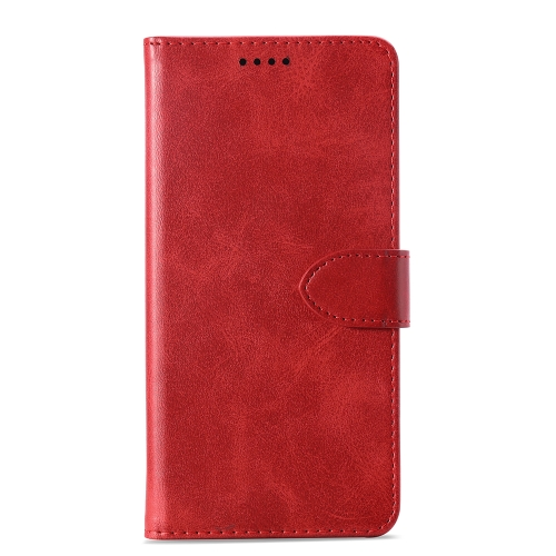 Calf Texture Horizontal Flip Leather Case for Sony Xperia 10 Plus, with Holder & Card Slots & Wallet(Red)