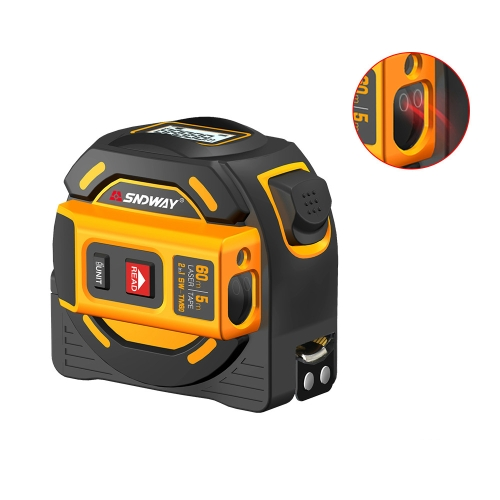 SNDWAY Digital Rangefinder Laser Distance Meter Tape Multi-function Self-Locking Hand Tool Device SW-TM60
