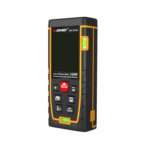 SNDWAY Double Horizontal bubble Rangefinder Laser Distance Meter Range Hand Tool Device SW- TG100