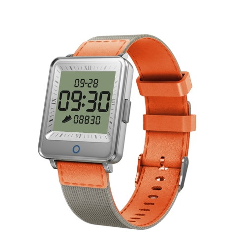 V16 1.2 inch IPS Dual Screen Smartwatch IP67 Waterproof,Nylon Watchband,Support Call Reminder /Heart Rate Monitoring/Blood Pressure Monitoring/Sleep Monitoring/Blood Oxygen Monitoring(Orange) фото