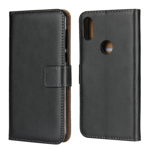 Leather Horizontal Flip Holster for Moto P30 Play ,with Magnetic Clasp and Bracket and Card Slot and Wallet(Black)