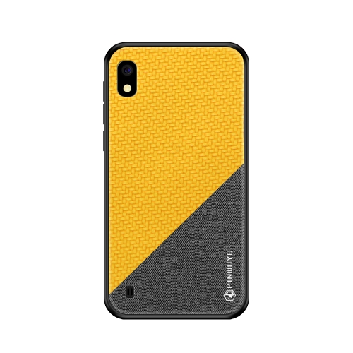 PINWUYO Honors Series Shockproof PC + TPU Protective Case for Galaxy A10(Yellow)