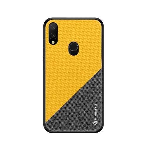 PINWUYO Honors Series Shockproof PC + TPU Protective Case for Xiaomi Play / Redmi 7 Pro(Yellow)