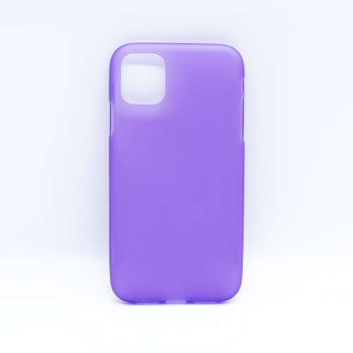 Solid Color Matte TPU Soft Shell Mobile Phone Protection Back Cover for iPhone XI MAX 2019(Purple)
