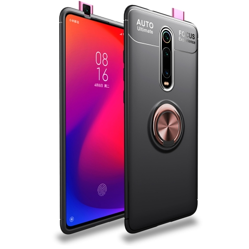Metal Ring Holder 360 Degree Rotating TPU Case for  Xiaomi Mi 9T / Redmi K20 / K20 Pro (Black+Rose Gold)
