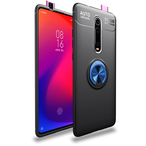 Metal Ring Holder 360 Degree Rotating TPU Case for   Xiaomi Mi 9T / Redmi K20 / K20 Pro (Black+Blue)