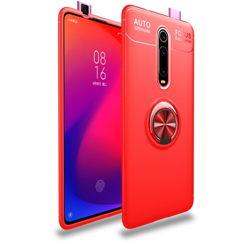 Metal Ring Holder 360 Degree Rotating TPU Case for   Xiaomi Mi 9T / Redmi K20 / K20 Pro (Red+Red)