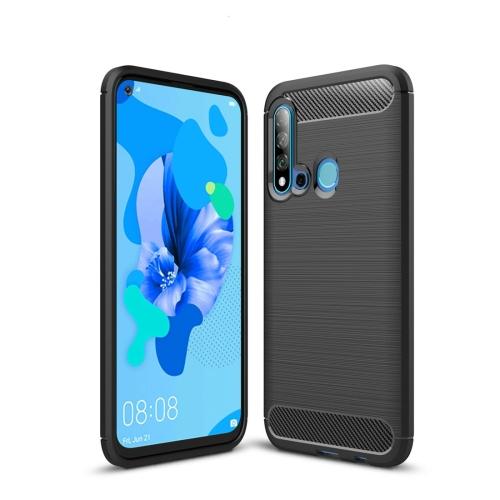 Brushed Texture Carbon Fiber TPU Case for Huawei Nova5i / P20 Lite 2019(Black)