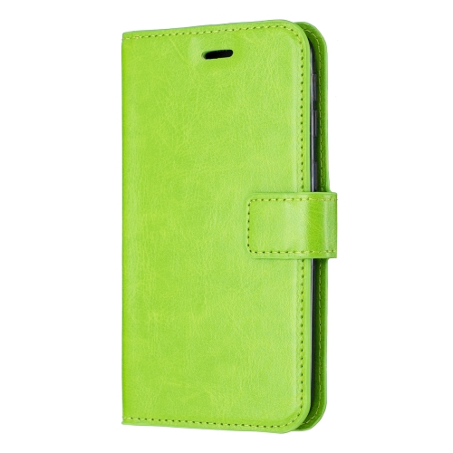Crazy Horse Texture Horizontal Flip Leather Case with Holder & Card Slots & Wallet & Photo Frame for iPhone 11 Pro Max(green)