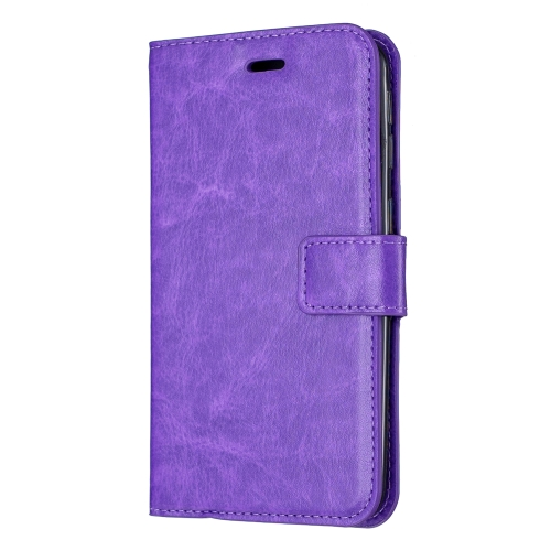 Crazy Horse Texture Horizontal Flip Leather Case with Holder & Card Slots & Wallet & Photo Frame for iPhone 11(pruple)