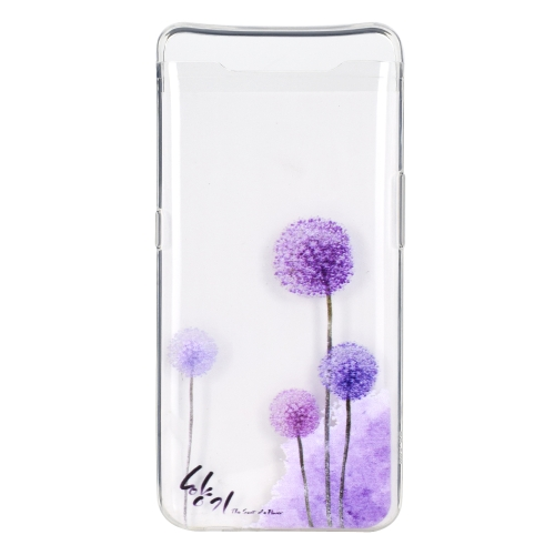 Stylish and Beautiful Pattern TPU Drop Protection Case for Galaxy A80(Dandelion)