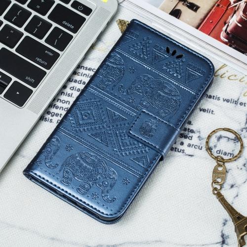 Elephant Embossing Pattern Horizontal Flip Leather Case for Huawei P20 Lite(2019) & Nova 5i , with Holder & Card Slots & Wallet & Photo Frame & Lanyard(Dark Blue)