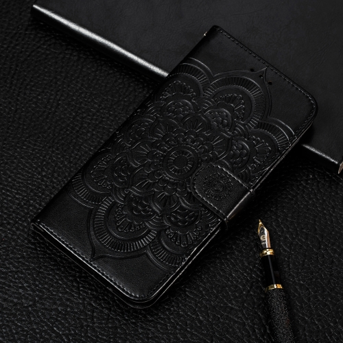 Mandala Embossing Pattern Horizontal Flip Leather Case for Galaxy Note 10 Pro, with Holder & Card Slots & Wallet & Photo Frame & Lanyard(Black)