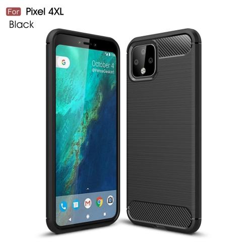 Brushed Texture Carbon Fiber TPU Case for Google Pixel 4XL(Black)