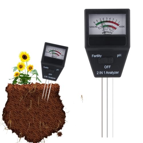 RZ93 Mini Soil Moisture Humidity Hygrometer Measuring PH Meter Soil Moisture Monitor Gardening Plant Farming Light Sunlight Tester