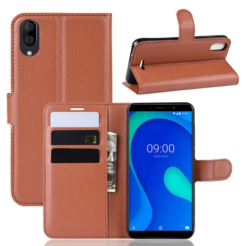 Litchi Texture Horizontal Flip Leather Case for WIKO Y80, with Wallet & Holder & Card Slots(Brown) фото
