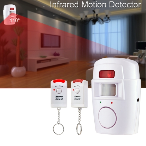Wireless Remote Controller Wireless Home Security PIR Alert Infrared Sensor Alarm System Anti-theft Motion Detector Alarm 105DB Siren