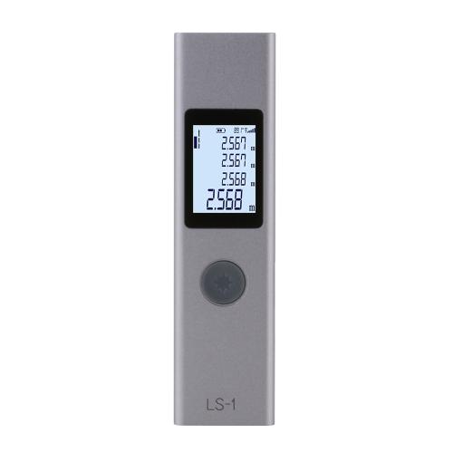 LS-1 Laser Rangefinder Distance Meter 40m Handheld Mini Rechargeable LCD Digital Laser Distance Meter 131ft Laser Range Finder