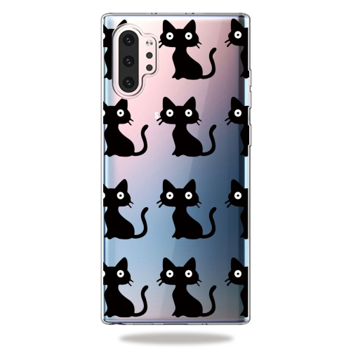 Fashion Soft TPU Case 3D Cartoon Transparent Soft Silicone Cover Phone Cases For Galaxy Note10+(Black Cat) фото