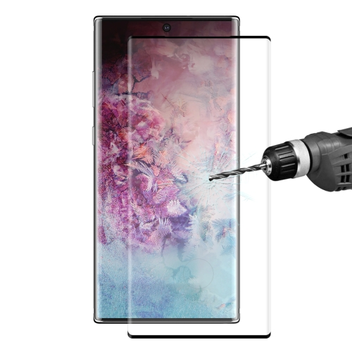 ENKAY Hat-Prince 0.26mm 9H 3D Explosion-proof Full Screen Curved Heat Bending Tempered Glass Film for Galaxy Note10(Black)