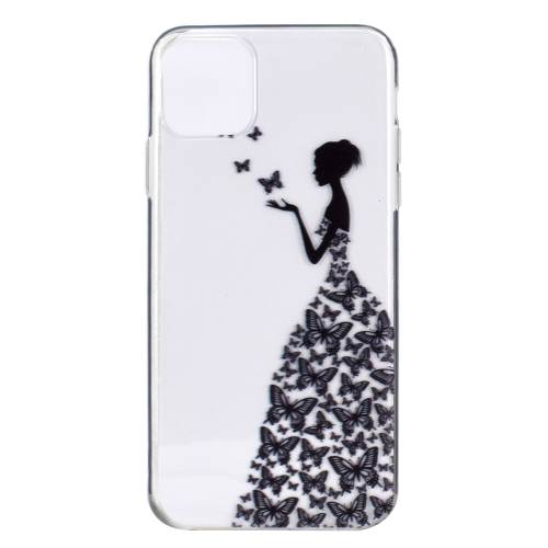 Stylish and Beautiful Pattern TPU Drop Protection Case for iPhone 11 Pro(Butterfly girl) фото