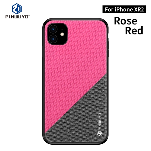 PINWUYO Honors Series Shockproof PC + TPU Protective Case for iPhone 11(Red)