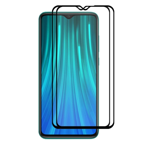 2 PCS ENKAY Hat-prince Full Glue 0.26mm 9H 2.5D Tempered Glass Full Coverage Film for Redmi Note 8 Pro