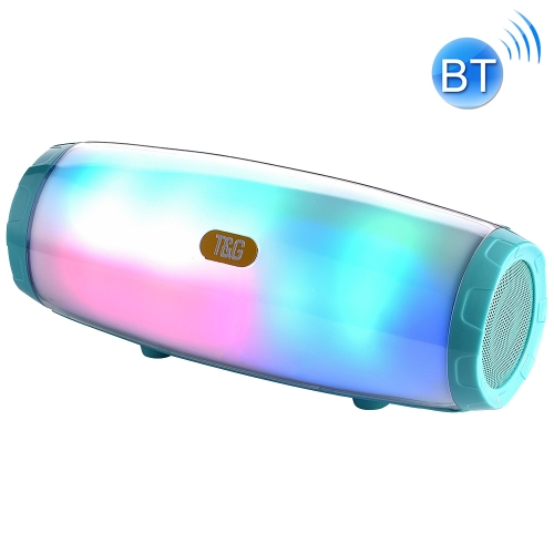 T&G TG165 5W*2 Portable Wireless Speaker Speaker With Dancing LED Flashing Light Mp3 AUX USB FM Radio Stereo Subwoofer(Green)