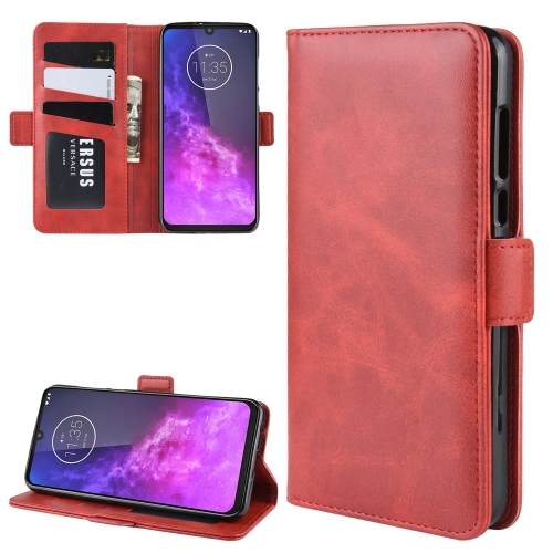 For Motorola One Zoom Wallet Stand Leather Cell Phone Case with Wallet & Holder & Card Slots(Red)