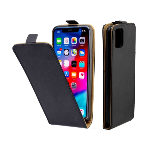 Business Style Vertical Flip TPU Leather Case with Card Slot For iPhone 11 Pro(Black)
