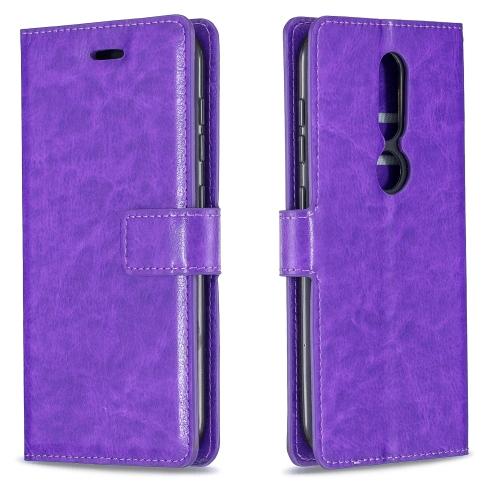 For Nokia 4.2 Crazy Horse Texture Horizontal Flip Leather Case with Holder & Card Slots & Wallet & Photo Frame(Purple) фото