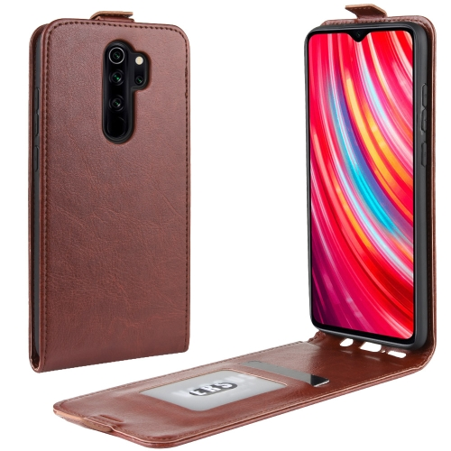 For Xiaomi Redmi Note 8 Pro Crazy Horse Vertical Flip Leather Protective Case(Brown) фото