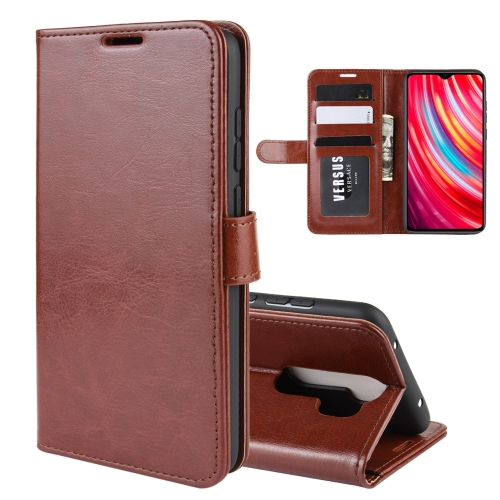 For Xiaomi Redmi Note 8 Pro R64 Texture Single Fold Horizontal Flip Leather Case with Holder & Card Slots & Wallet(Brown) фото