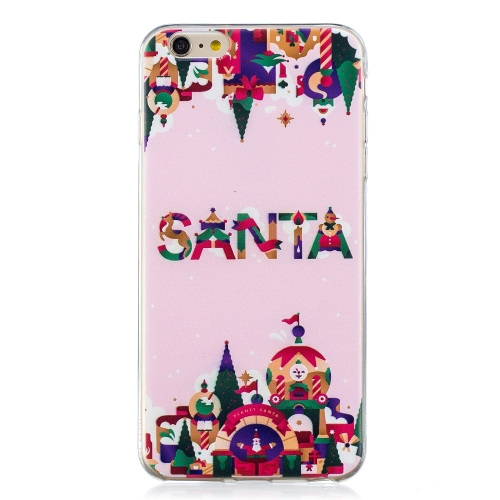 For iPhone 6 Plus / 6s Plus Christmas Gift TPU Case(Christmas Castle)