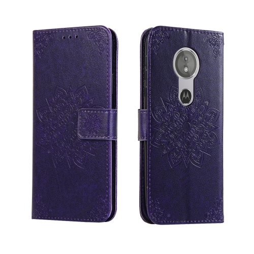 For Moto E5 & Moto G6 Play Embossed Kaleidoscope Flower Horizontal Flip Leather Case with Holder & Card Slots & Wallet(Purple)