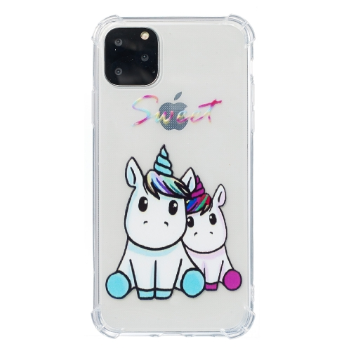 For iPhone 11 Pro Max Anti-Drop Pattern TPU Phone Case(Sweet) фото