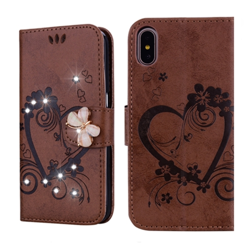 Sunsky For Iphone X Xs Embossed Heart Butterfly Pattern