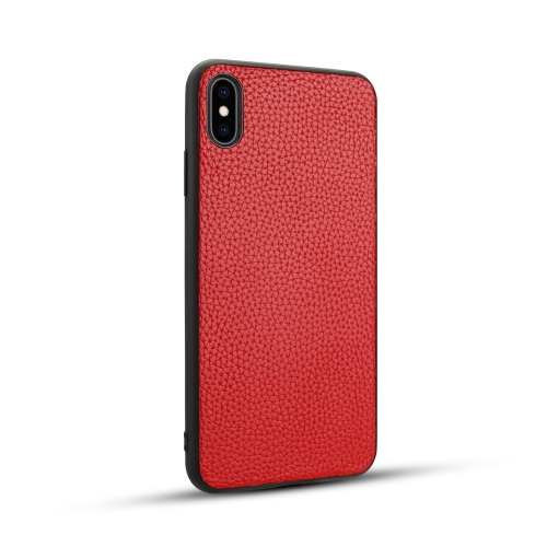 For iPhone XS Max   Litchi PU Leather Anti-falling TPU Protective Case(Red)