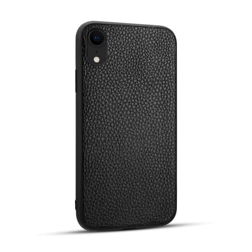 For iPhone XR   Litchi PU Leather Anti-falling TPU Protective Case(Black)
