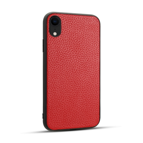 For iPhone XR   Litchi PU Leather Anti-falling TPU Protective Case(Red)