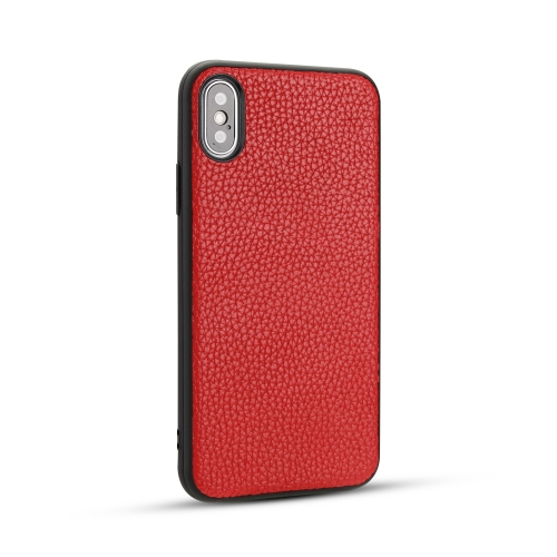 For IPhone X / Xs   Litchi PU Leather Anti-falling TPU Protective Case(Red)