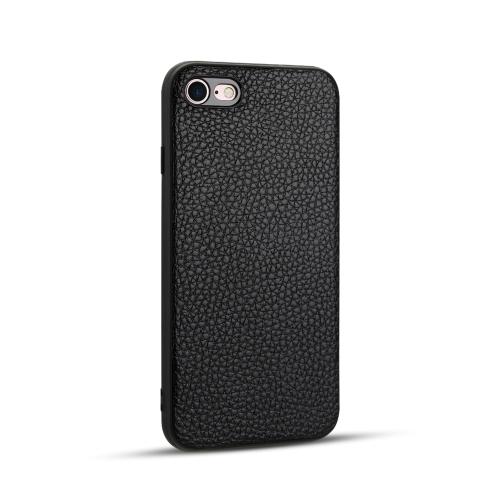 For iPhone SE 2020 / 8 / 7   Litchi PU Leather Anti-falling TPU Protective Case(Black)