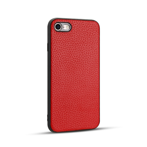 For iPhone SE 2020 / 8 / 7   Litchi PU Leather Anti-falling TPU Protective Case(Red)