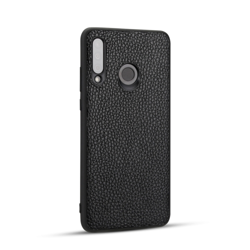 For Huawei P30 Lite - Lychee Grain Cortex Anti-falling TPU Mobile Phone Shell Protective Case(Black)
