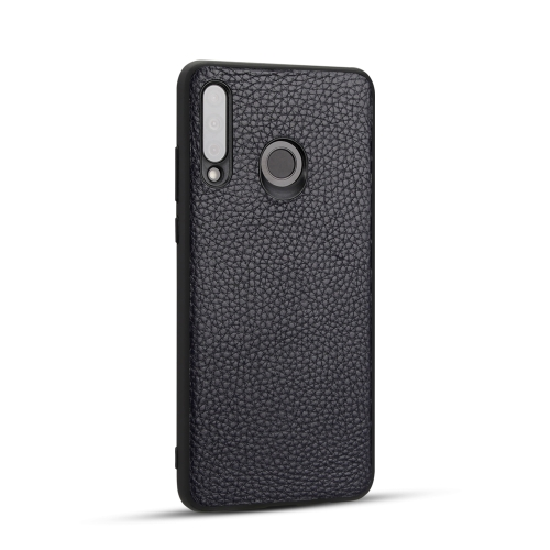 For Huawei P30 Lite - Lychee Grain Cortex Anti-falling TPU Mobile Phone Shell Protective Case(Deep Blue)